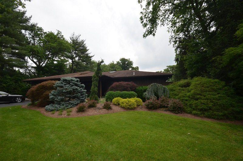 backyard landscaping swale slope