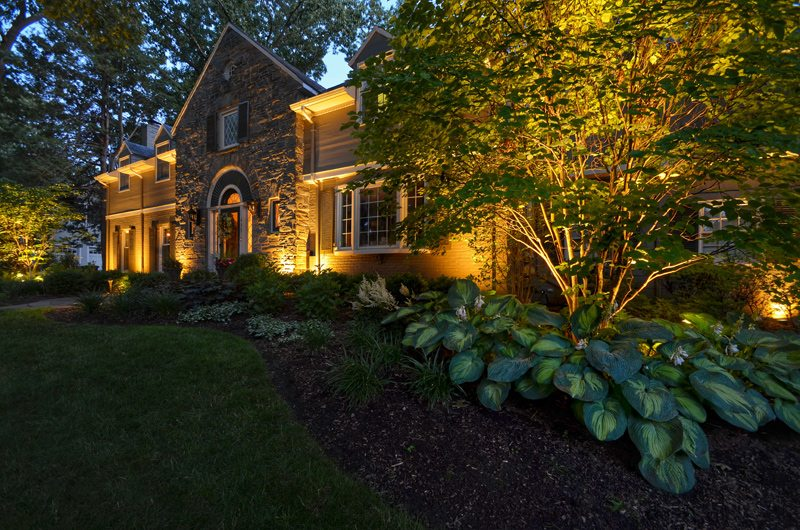 Landscape Lighting Highlights Home and Garden