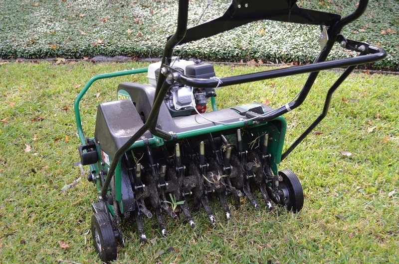 Aerating for a healthy lawn