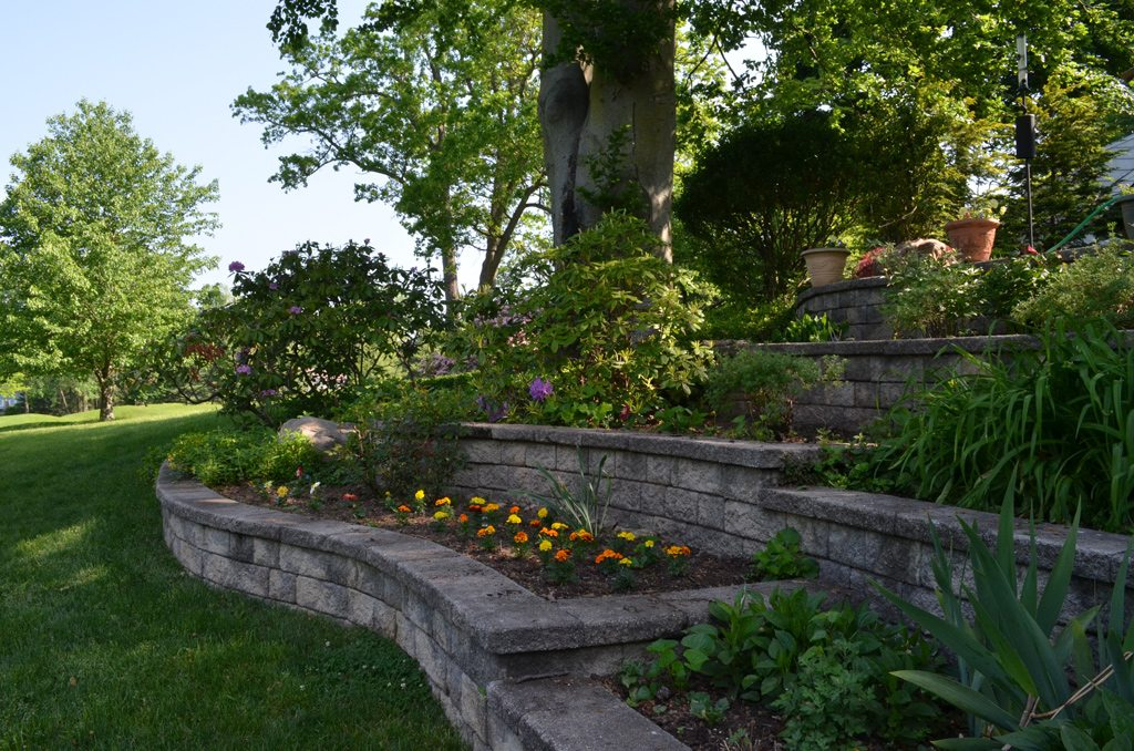 Multi Tiered Stone Walls And Gardens Tode Landscape