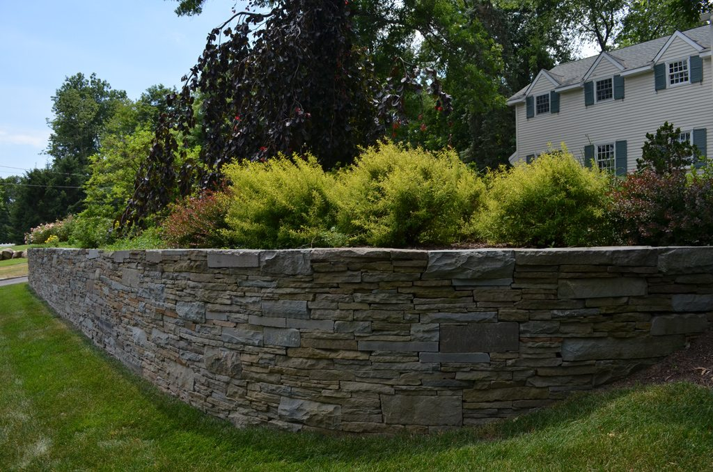 Stone Wall Front Yard Tode Landscape
