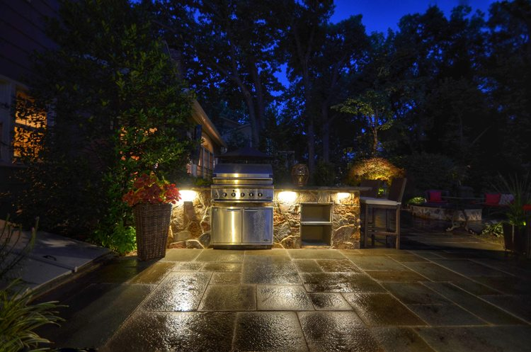 Lighting for Outdoor Kitchen and Bar