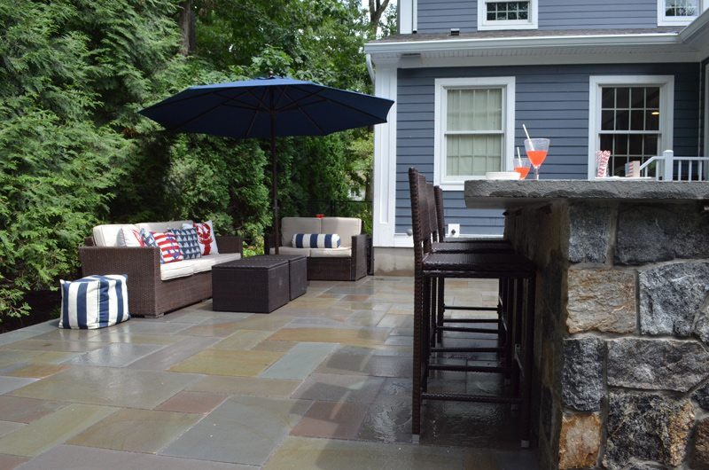 Outdoor Seating with Shade Umbrella