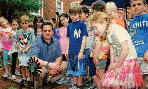 Mike Tode Landscaping with School Kids