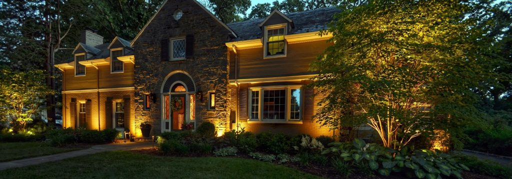 Landscape Lighting Design Highlights Beautiful Home